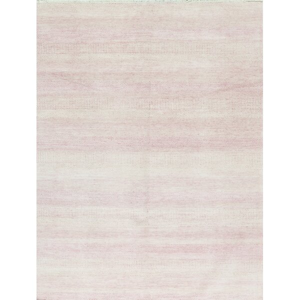 Hand-Knotted 7.11' x 10.3' Ivory/Pink Area Rug