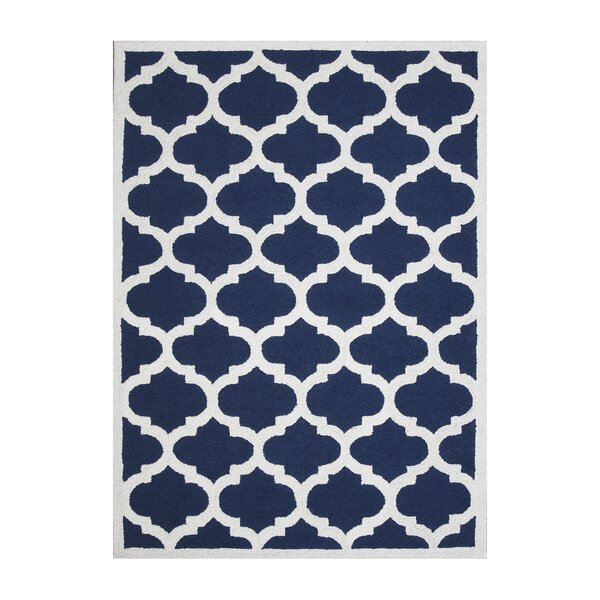 Aroa Cupola Hand-Tufted Navy Blue Area Rug by DecorShore