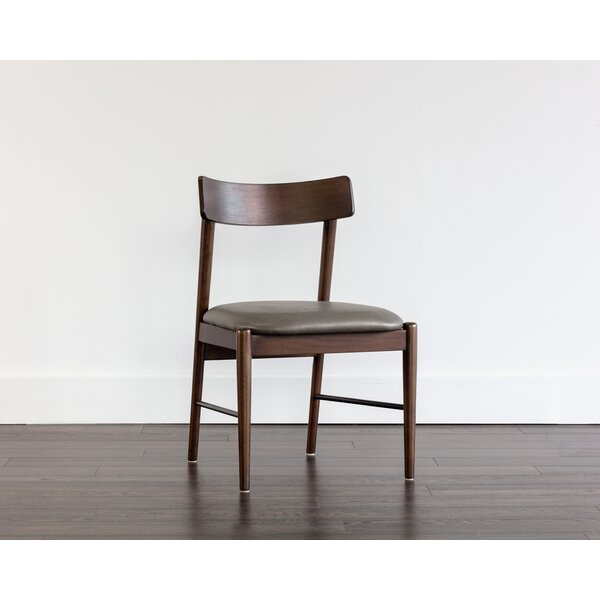 Shrestha Upholstered Parsons Chair In Gray By Brayden Studio