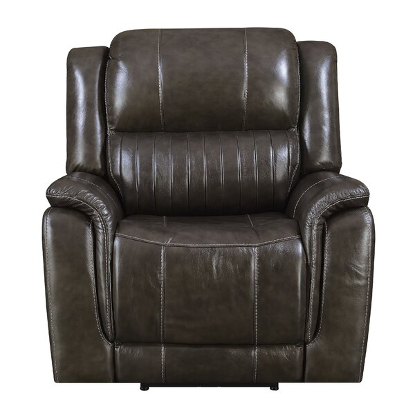 Guineau Leather Power Recliner by Red Barrel Studi