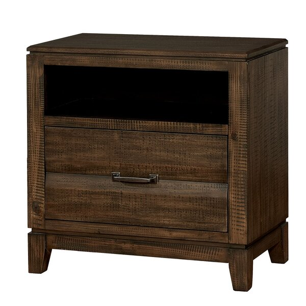 Switzer Transitional Wood Tapered Legs 2 Drawer Nightstand by Millwood Pines