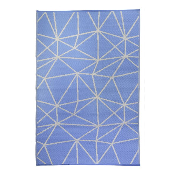 Premier Home Hand-Woven Blue/White Indoor/Outdoor Area Rug by Fox Hill Trading