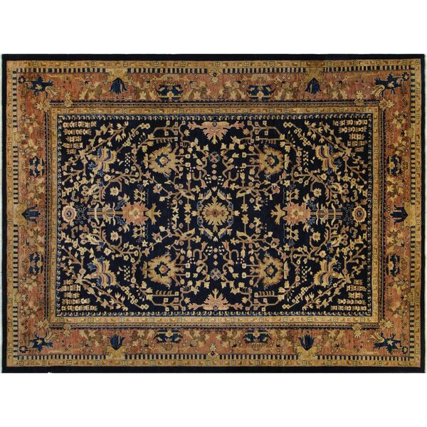 Xenos Hand-Knotted Wool Blue Indoor Area Rug by Astoria Grand