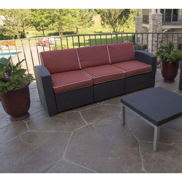 Loggins Patio Sofa with Cushions by Brayden Studio