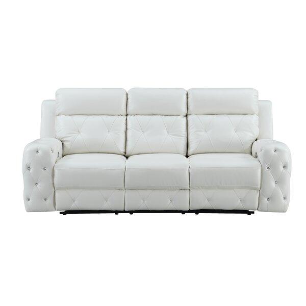 Leffler Jewel Embellished Power Reclining Sofa By Mercer41
