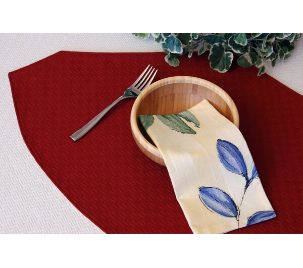 Wicker Table Linens Reversible Wedge Placemat (Set of 2) by Pacific Table Linens