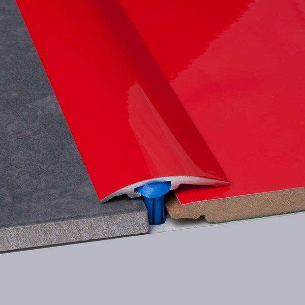 0.25 x 1.5 x 35.5 Carpet Reducer in Red by ELESGO Floor USA