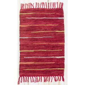 Canyon Hand Woven Cotton Red Area Rug