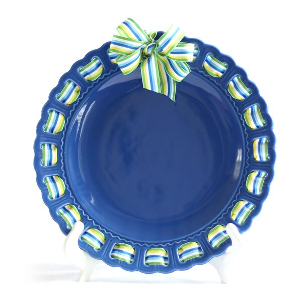 Decorative Ribbon Plate by Prissy Plates