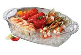 Buffet on Ice 4 Compartment Vented Food Tray by Prodyne