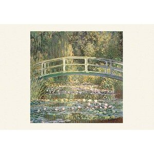 'Waterlilies and Japanese Bridge' by Claude Monet Painting Print by Buyenlarge