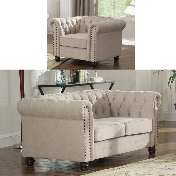 Audwin 2 Piece Living Room Set by House of Hampton