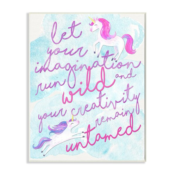 Let Your Imagination Run Wild Wall Plaque by Stupell Industries