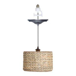 Price Check Nature 1-Light Drum Pendant By Worth Home Products
