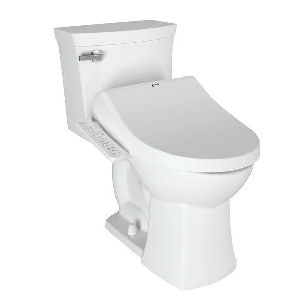 Shower Side Panel and Antibacterial Dual Nozzle Toilet Seat Bidet by INAX