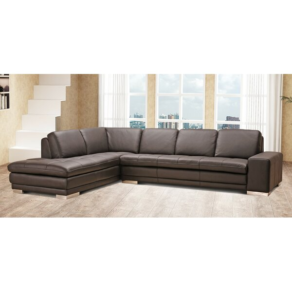 Last Trendy Bender Leather Sectional by Wade Logan by Wade Logan