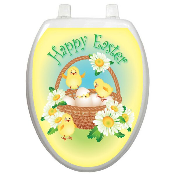 Holiday Easter Chicks Toilet Seat Decal by Toilet Tattoos