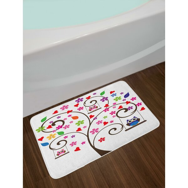 @ Ambesonne City Bath Mat By Cartoon Downtown Cars Ships