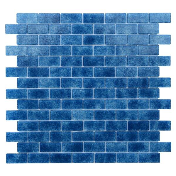 Quartz 0.75 x 1.63 Glass Mosaic Tile in Blue/Lapis Blue by Kellani
