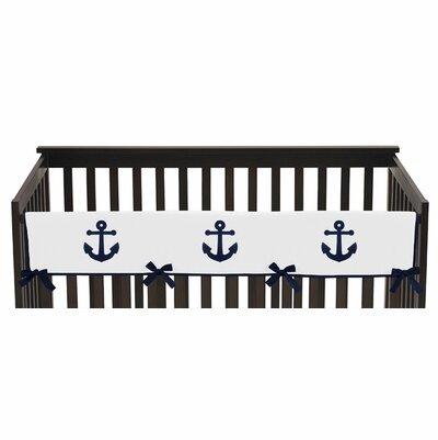 Anchors Away Crib Rail Guard Cover by Sweet Jojo Designs