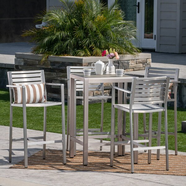 Royalston Outdoor 5 Piece Bar Set by Brayden Studio Brayden Studio