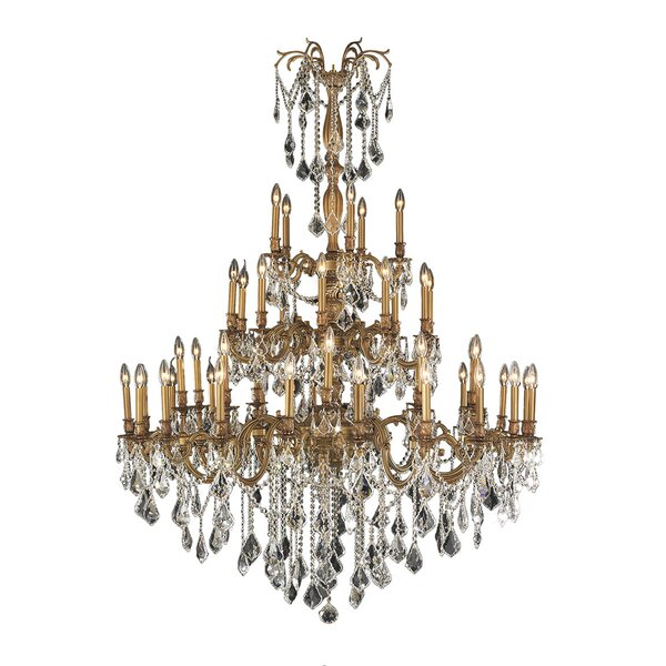Radtke Traditional 45-Light Candle Style Chandelier by Astoria Grand