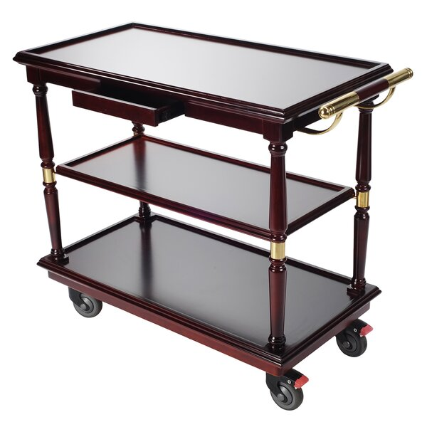 Mobile Wooden Serving Bar Cart by Cosmopolitan Furniture