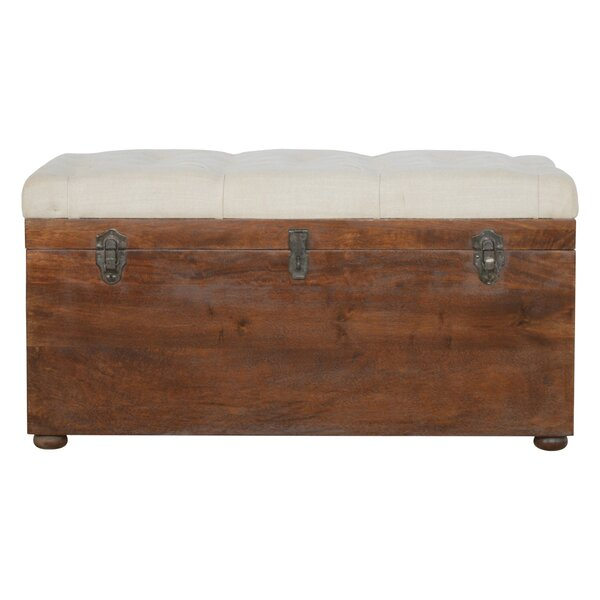 Patnaude D-Button Solid Wood Storage Bench by Loon Peak