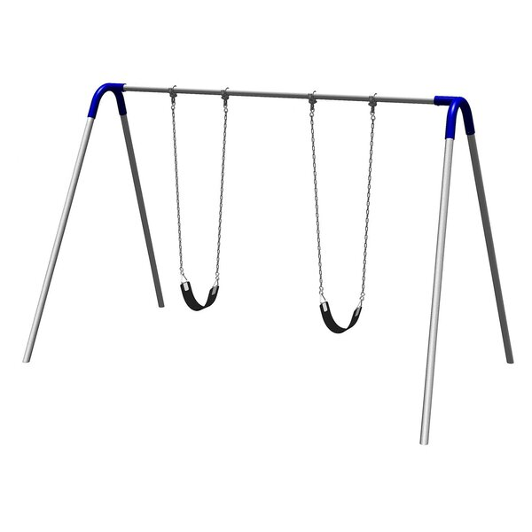 UPlay Today Single Bay Swing Set with Commercial Strap Seats by Ultra Play