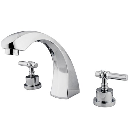 Double Handle Deck Mount Roman Tub Faucet by Elements of Design