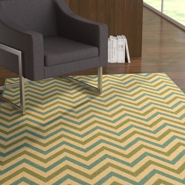 Heath Green/Blue Indoor/Outdoor Area Rug by Ebern Designs