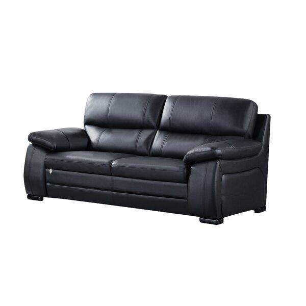 Ugarte Leather Sofa by Latitude Run