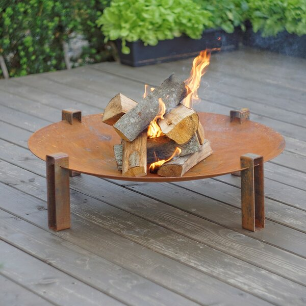 Alna Solid Carbon Steel Wood Burning Fire Pit by Curonian