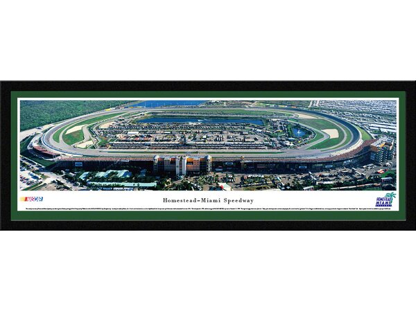 NASCAR Homestead-Miami Speedway by James Blakeway Framed Photographic Print by Blakeway Worldwide Panoramas, Inc