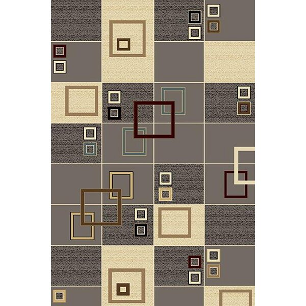 Siemens Gray/Cream Area Rug by Orren Ellis