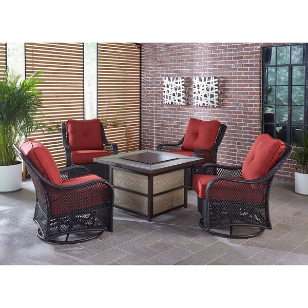 Albertson 5 Piece Sofa Seating Group with Cushion by Bay Isle Home