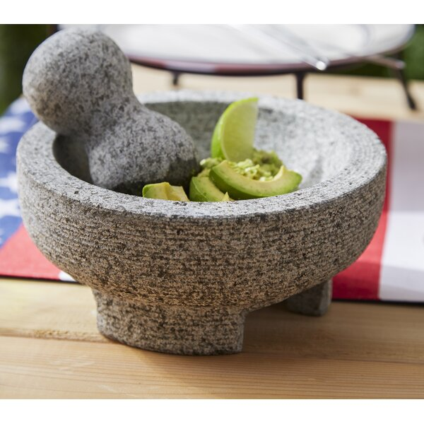 2 Piece Granite Mortar and Pestle Set by IMUSA