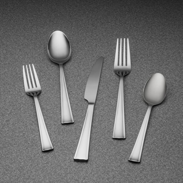 Coordinates Ruth 20 Piece Stainless Steel Flatware Set, Service for 4 by Corelle