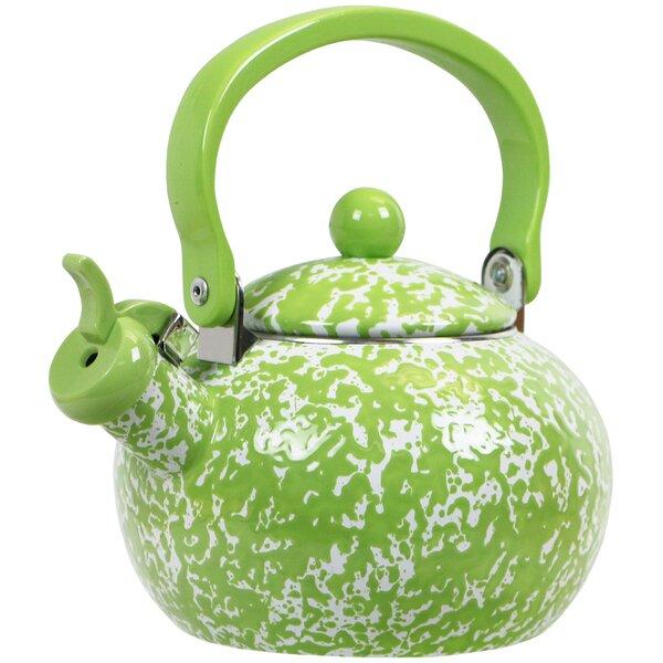 Lewand 2 Qt. Whistling Stove Tea Kettle by Latitude Run