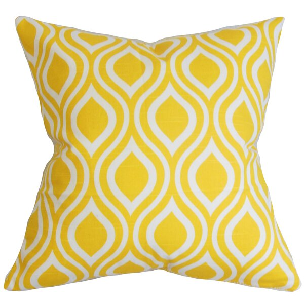 Haley Geometric Cotton Throw Pillow by Langley Street
