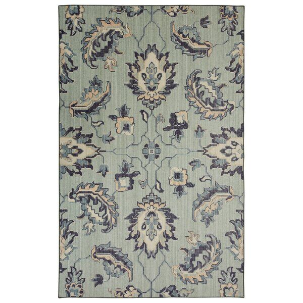 Kavya Aqua Area Rug by Bungalow Rose