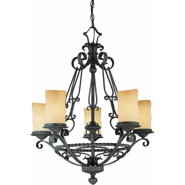 Sayles 5 - Light Shaded Empire Chandelier By Fleur De Lis Living