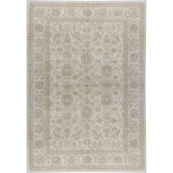 Sultanabad Hand Knotted Wool Ivory Rug