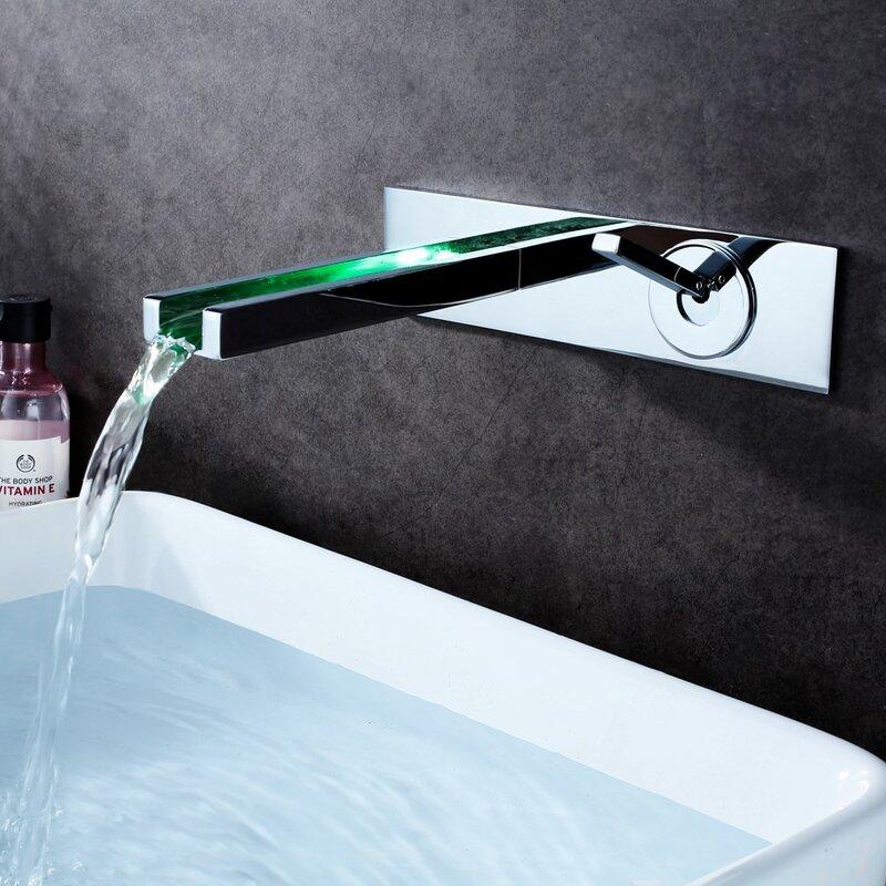 Sumerain Wall mounted Bathroom Faucet | Wayfair