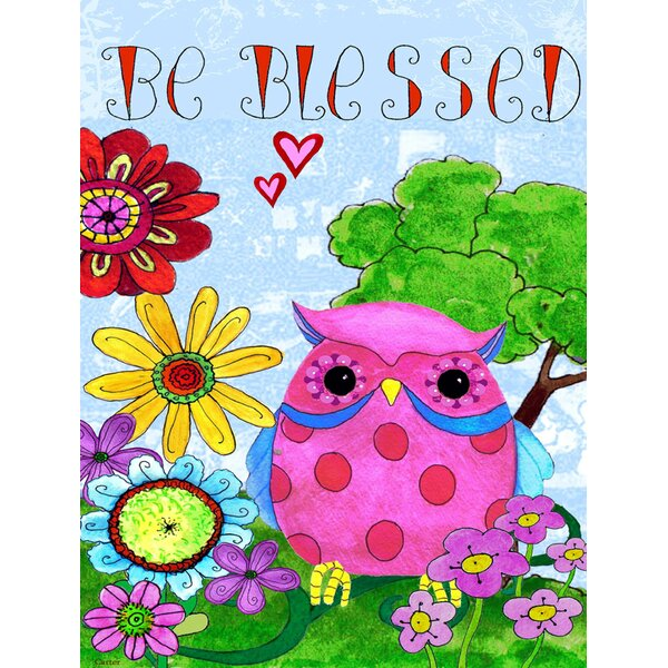 Be Blessed Owl Vertical Flag by Caroline's Treasures