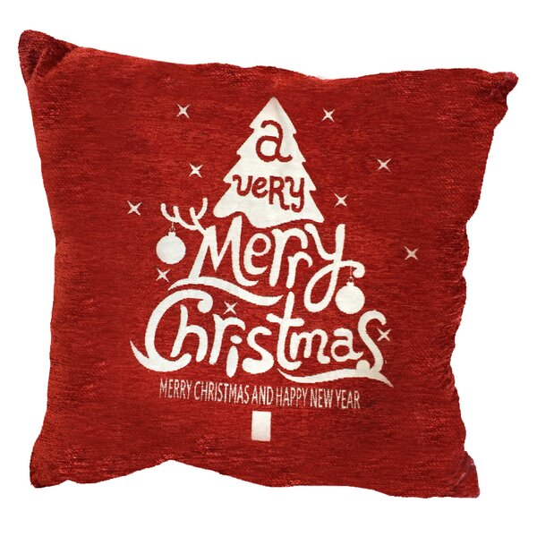 Christmas Flakes Throw Pillow by The Holiday Aisle