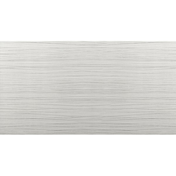 Thread 12 x 24 Porcelain Field Tile in Silver by Emser Tile