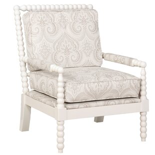 Reviews Shellplant Spindal Arm Chair by Bay Isle Home