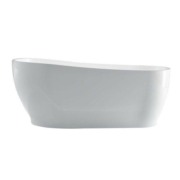 Kono 67 x 33 Freestanding Soaking Bathtub by Kube Bath