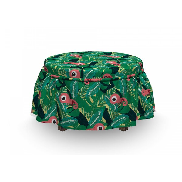 Tropical Chameleons Ottoman Slipcover (Set Of 2) By East Urban Home